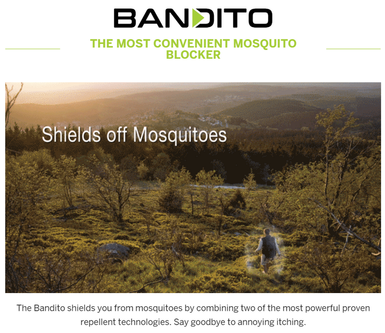 Bandito: A Mosquito Blocker You Wear On Your Wrist
