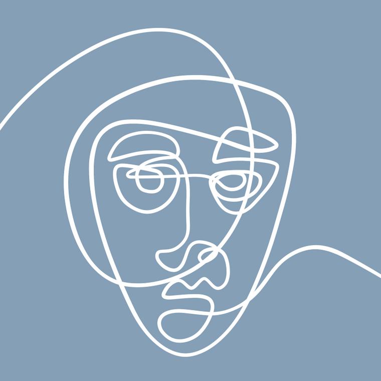Faces I - 8x8 Print