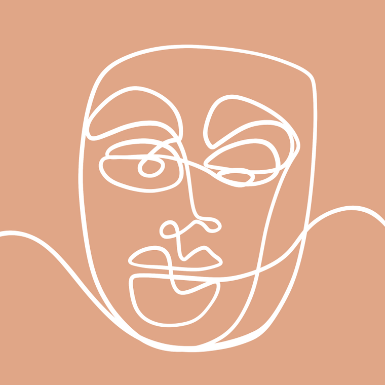 Faces II - 8x8 Print