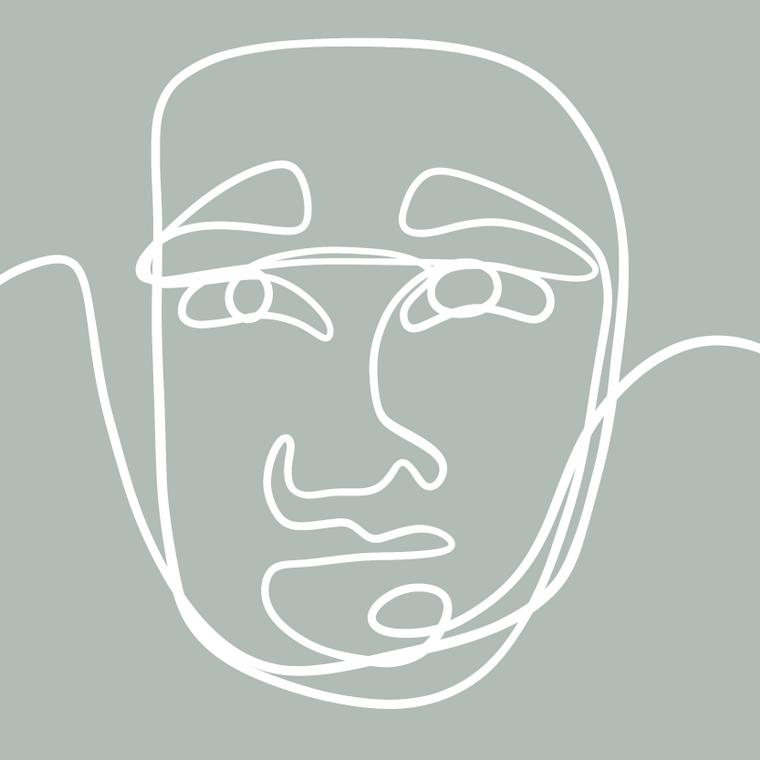 Faces III - 8x8 Print