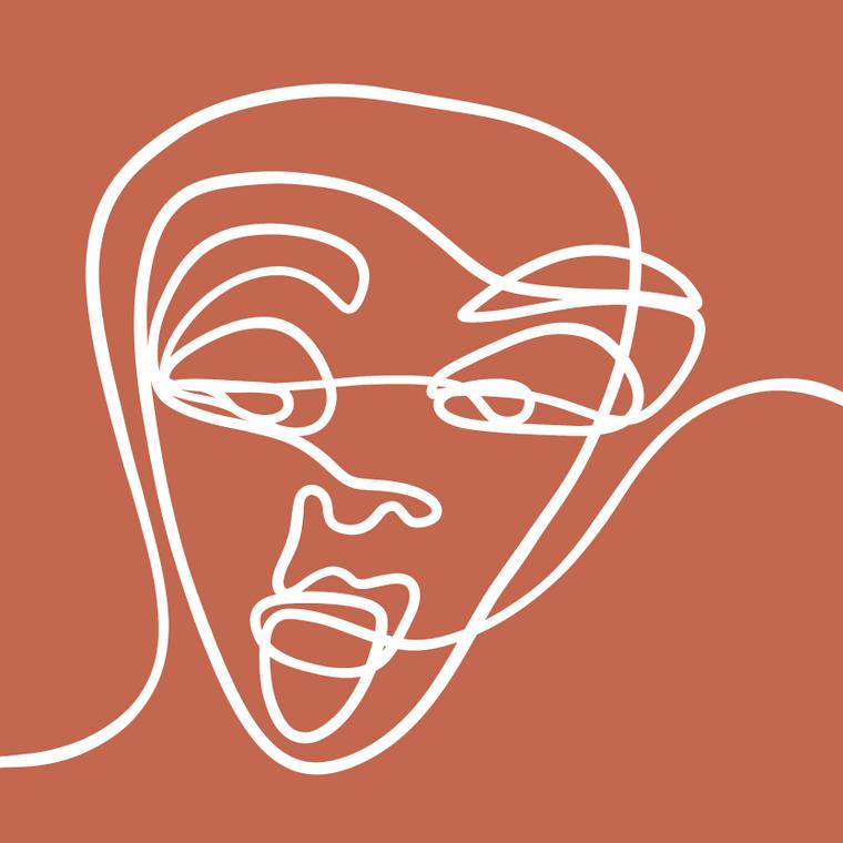 Faces IV - 8x8 Print