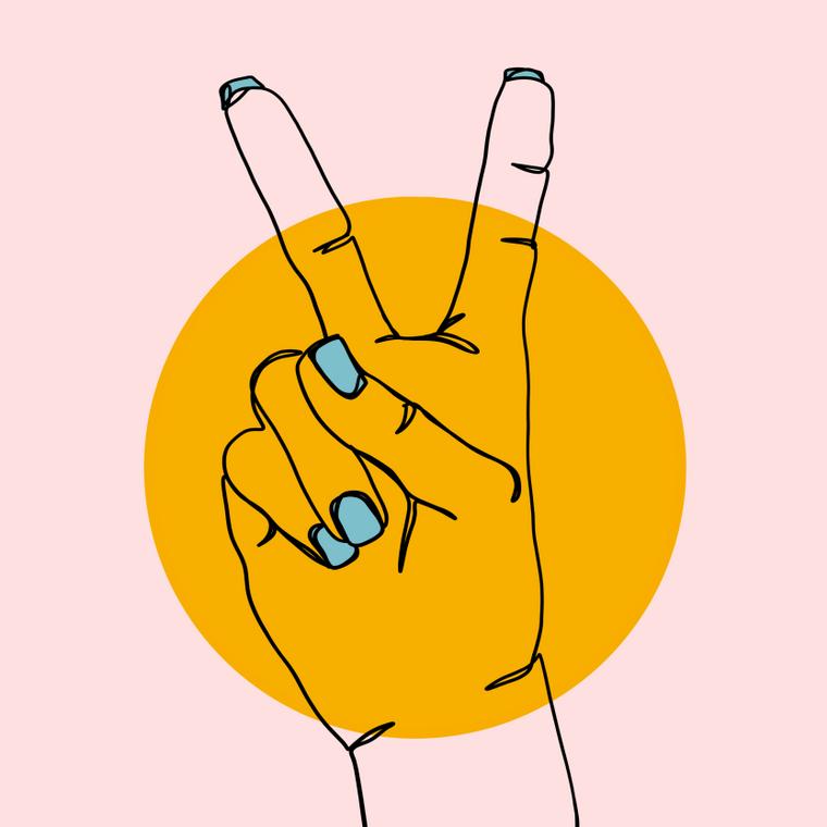 Peace Sign - 8x8 Print
