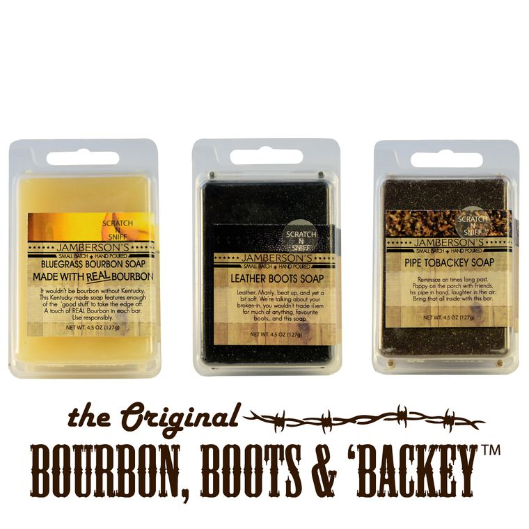 Bourbon, Boots, & 'Backey™  Soap Sample 3 Pack