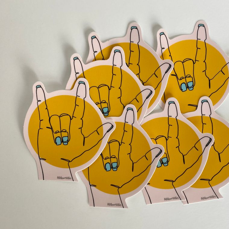 LOVE Die Cut Sticker