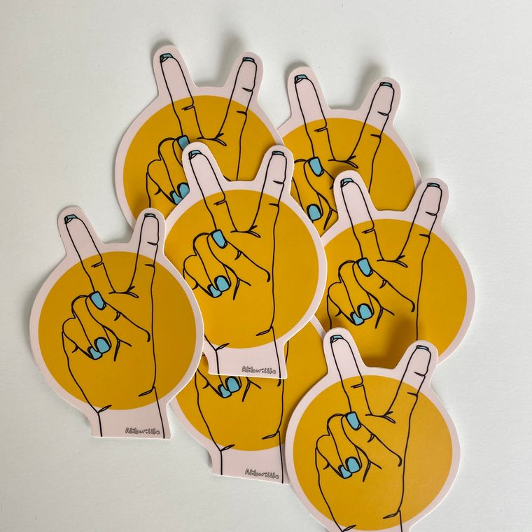 Peace Sign Die Cut Sticker