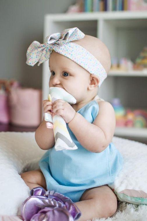 Baby Blue solid v-neck Romper