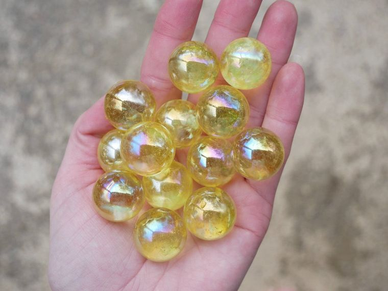 Aura Quartz Spheres