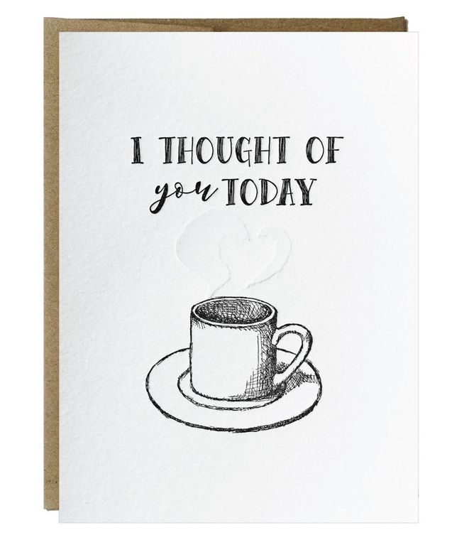 I Thought of You Today Letterpress Card - $2.50   case of 6