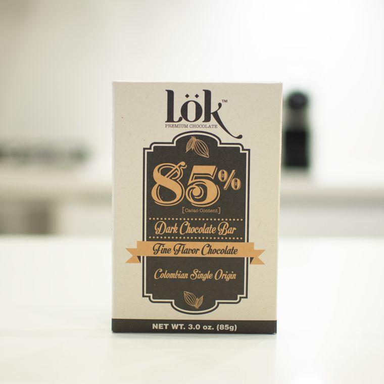 Lök Dark Chocolate Bar 85% Cacao Colombian Origin