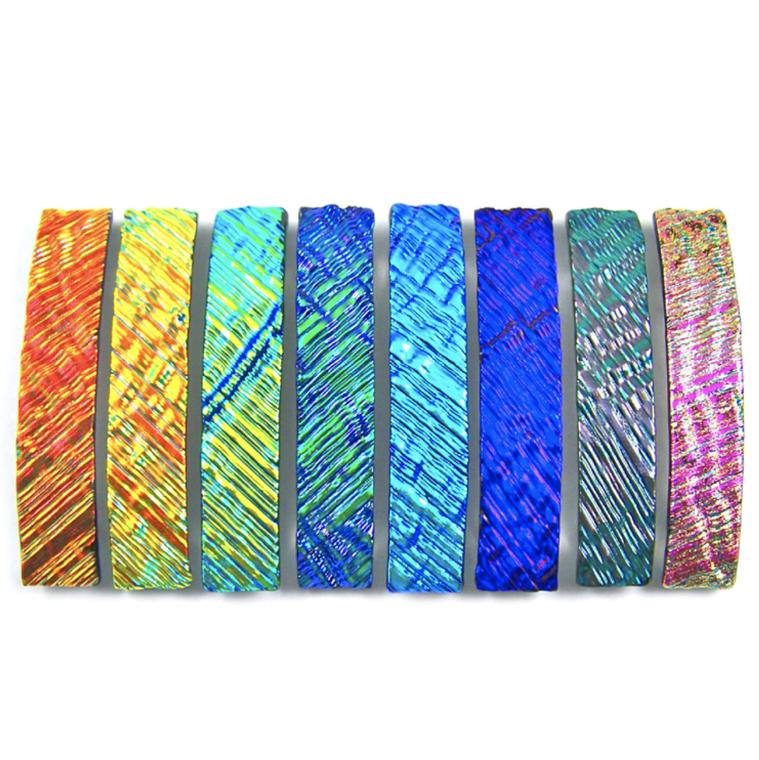 Barrettes Dichroic Glass Ripple Wavy Texture Large 0r Medium