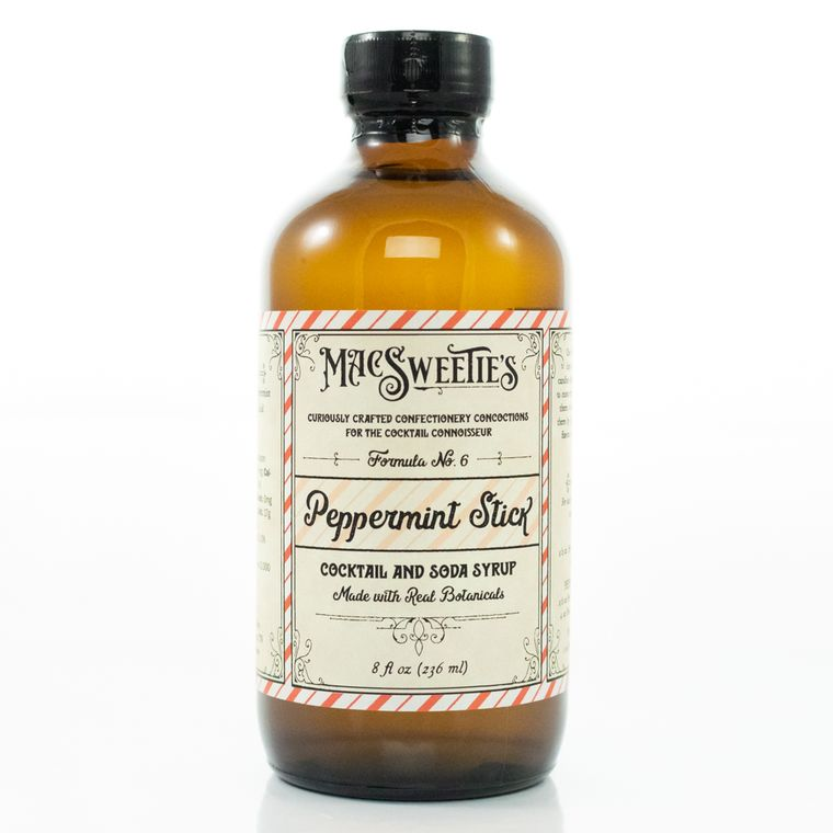 MacSweetie's Peppermint Stick Cocktail and Soda Syrup