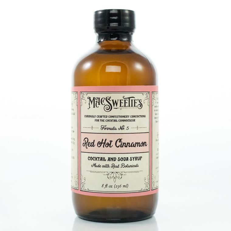 MacSweetie's Red Hot Cinnamon Cocktail and Soda Syrup