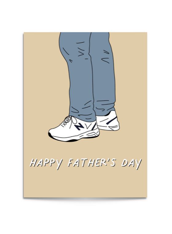 dad shoes card