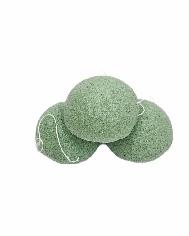 Konjac Sponge Biodegradable Green Tea | Eco Friendly Gift | Zero Waste, |Vegan