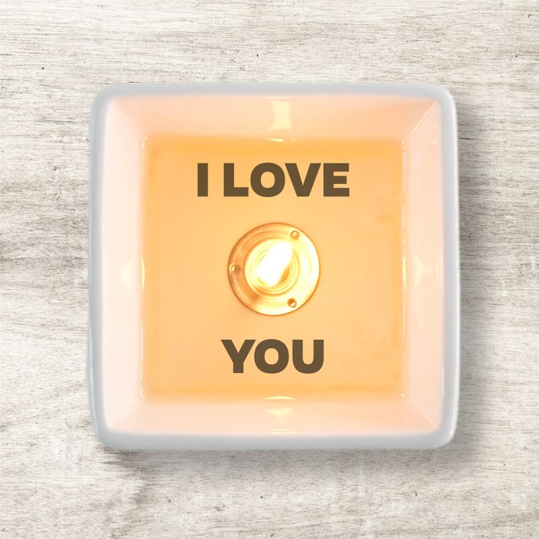 Secret message candle: I LOVE YOU