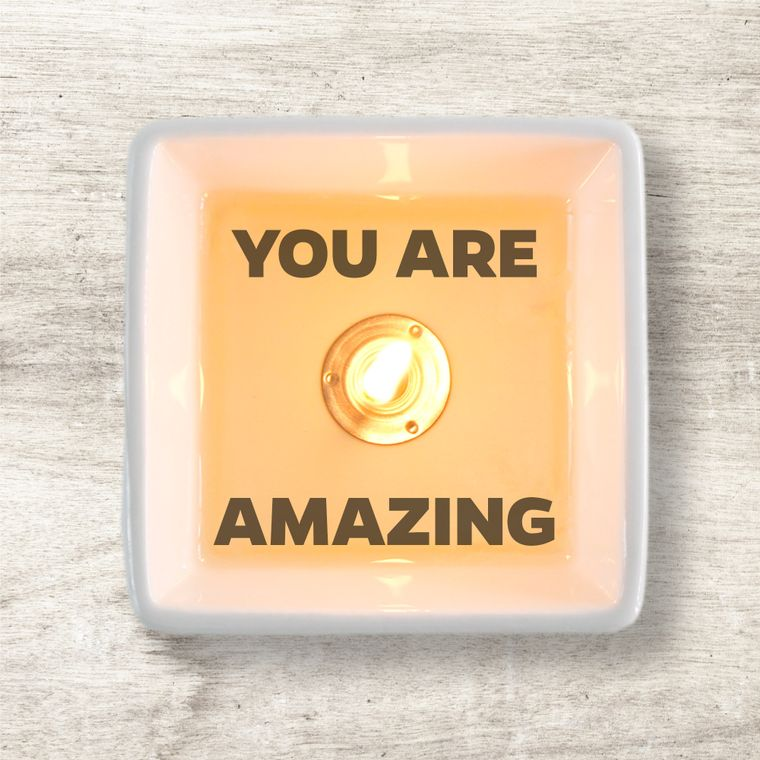 Secret message candle: YOU ARE AMAZING