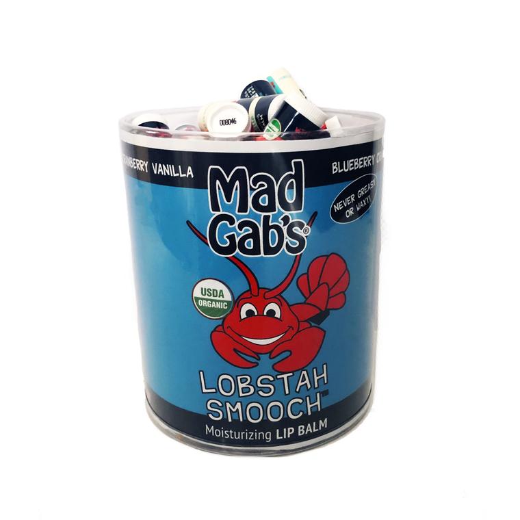 Organic Lobstah Smooch 72 Pc Lip Balm Tube Display