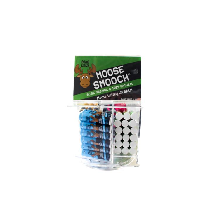 Organic Moose Smooch 90 Pc Lip Balm Spinner Display