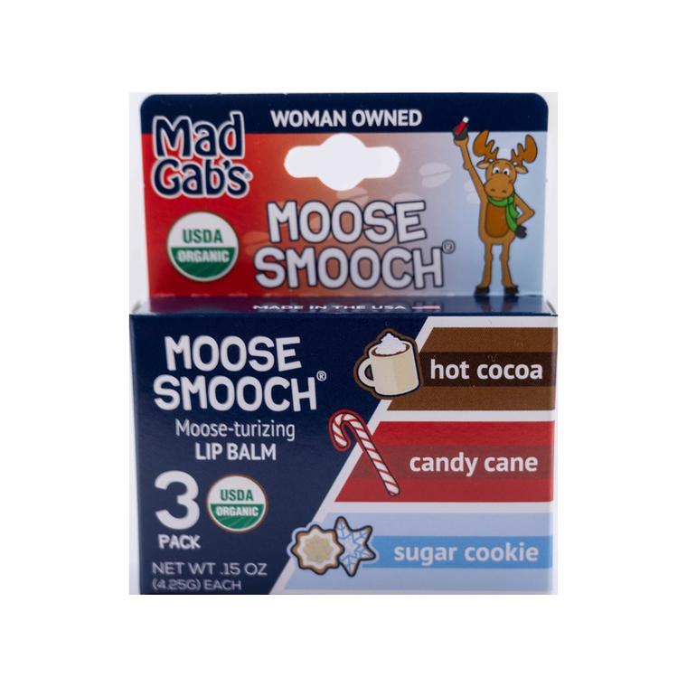 Organic Holiday Moose Smooch 3 Pack