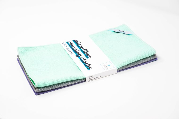 Bath Microfiber Cleaning Kit - (Pack of 3 Cloths)