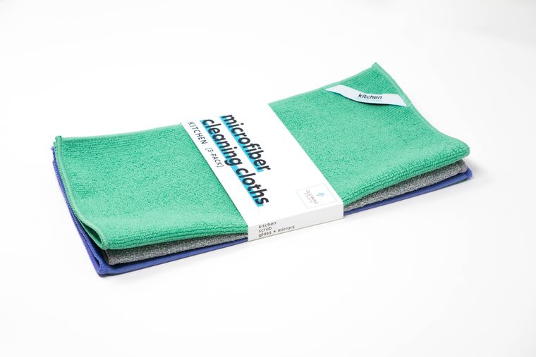 Kitchen Microfiber Cleaning Kit (Pack of 3 Cloths)
