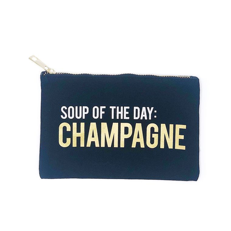 Soup Of The Day – Champagne Makeup Bag