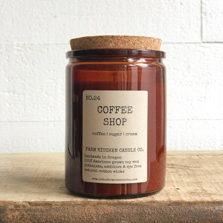 Coffee Shop soy candle- amber