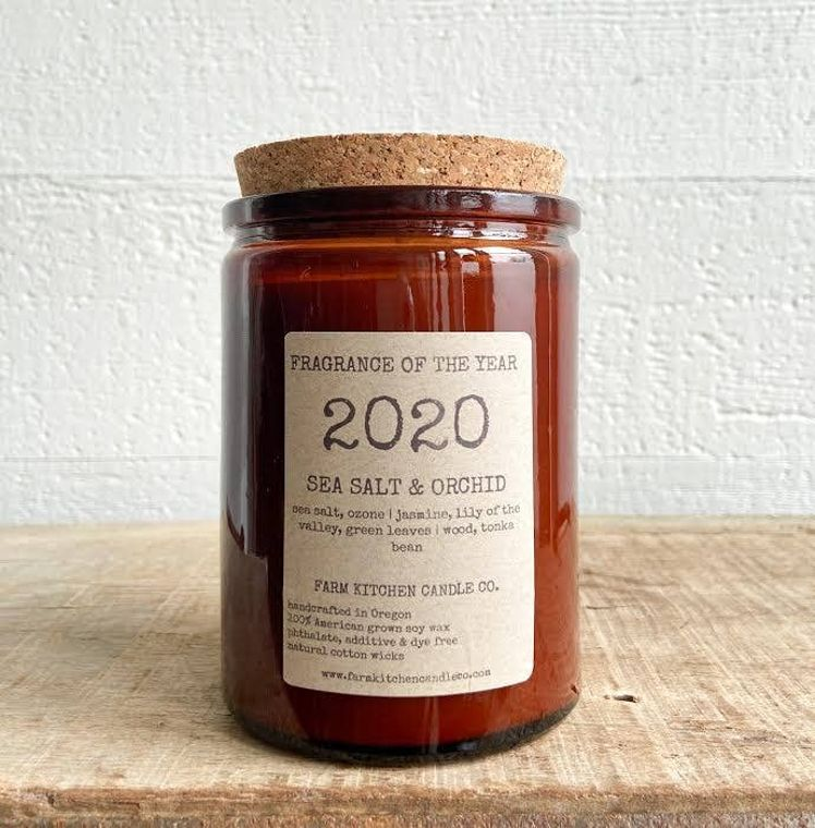2020 FRAGRANCE OF THE YEAR soy candle- amber