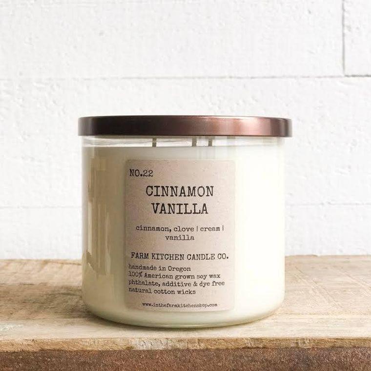 CInnamon Vanilla soy candle- triple wick