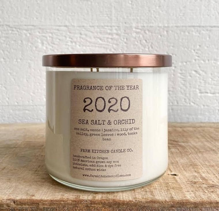 2020 FRAGRANCE OF THE YEAR soy candle- triple wick