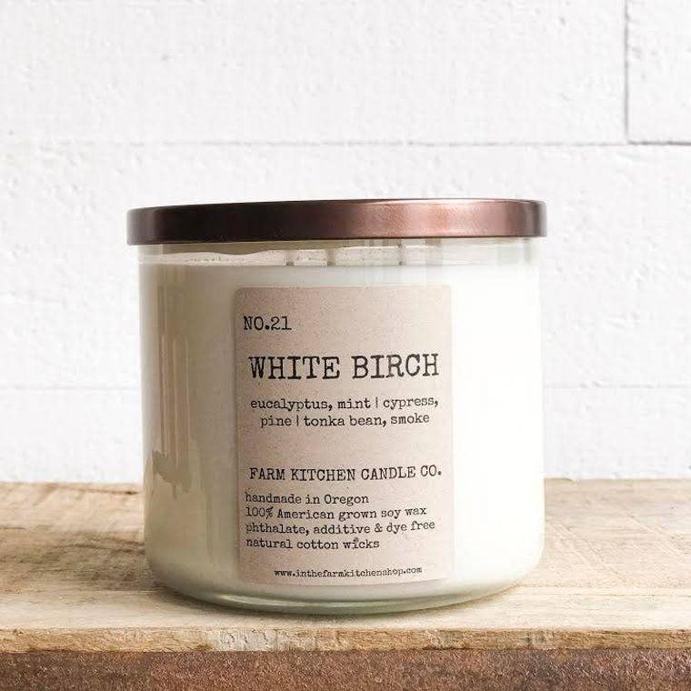 White Birch soy candle- triple wick