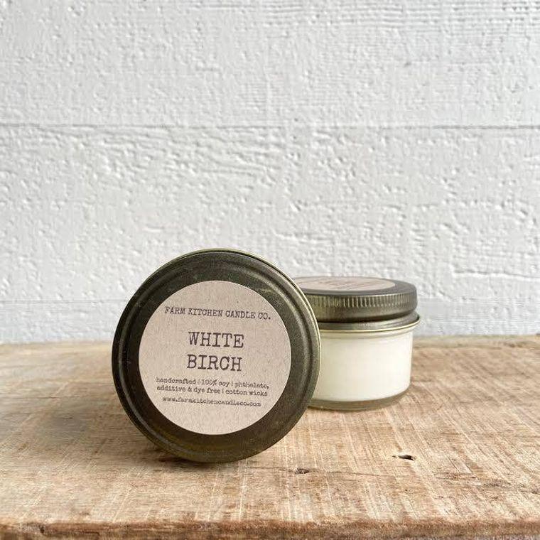 White Birch soy candle- mini