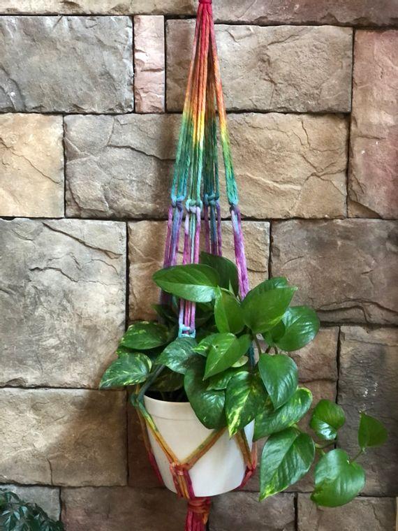Rainbow Plant Hanger