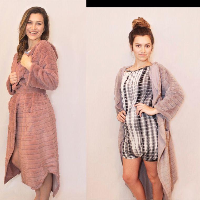 Minky wrap robe