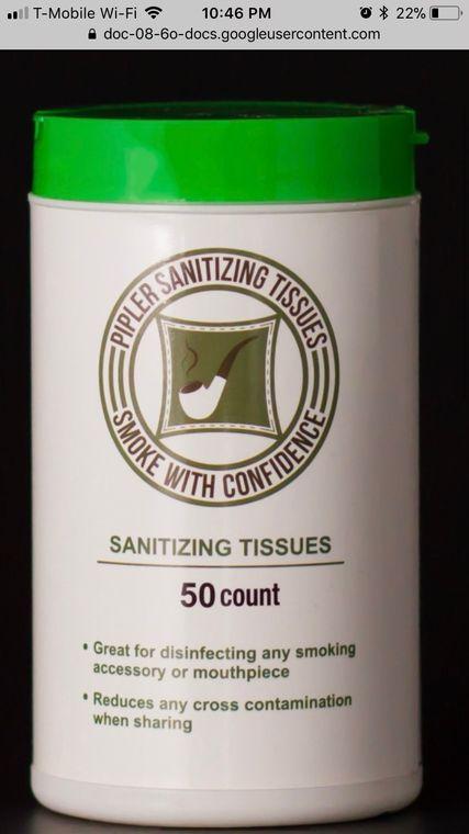 Pipler Sanitizing Tissues