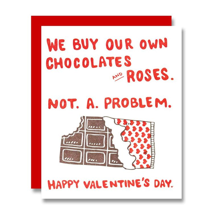 We Buy Our Chocolates, Valentine's Day Card