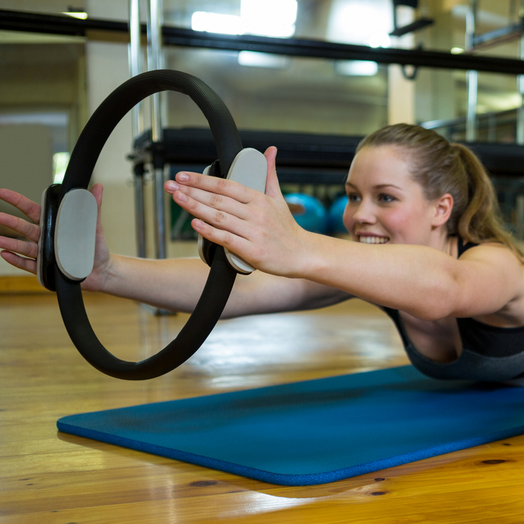 Pilates Resistance Ring for Strengthening Core Muscles & Improving Balance