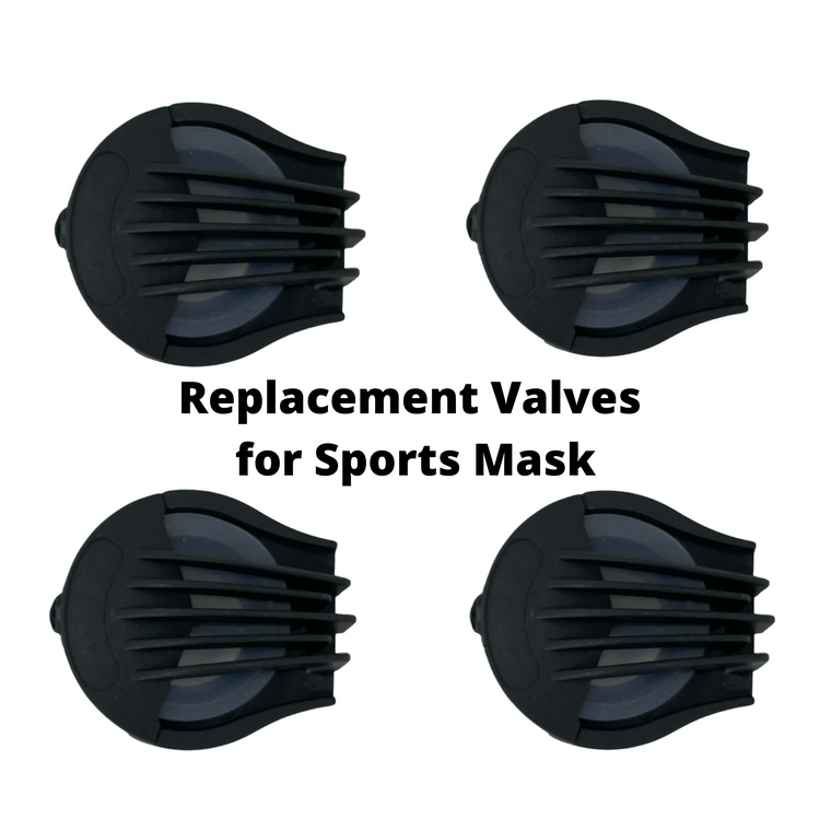 Replacement Set of Discharge Valves for Sports Mask (4 Pack)