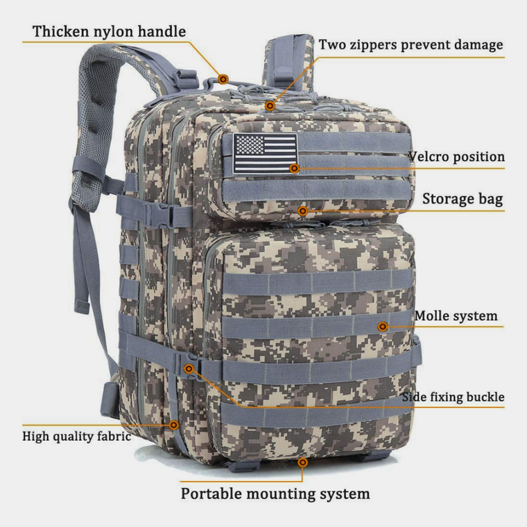Tactical Military 45L Molle Backpack Rucksack