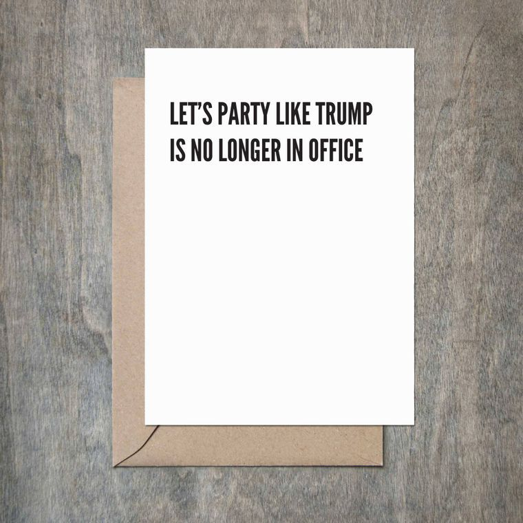 Trump Out of Office Birthday Card