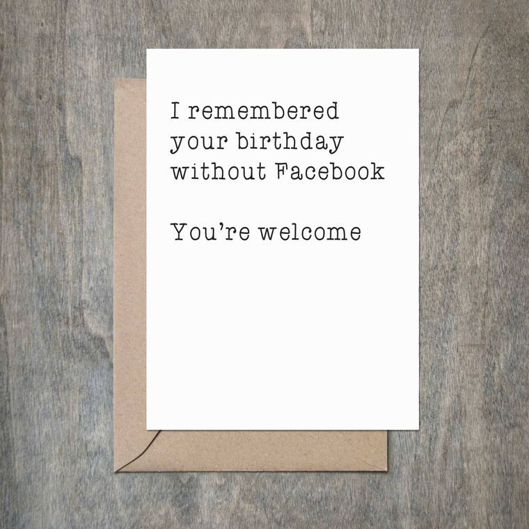 Remembered Birthday Without Facebook Birthday Card