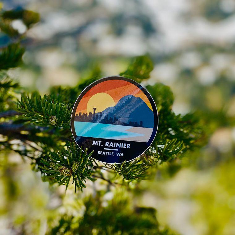 Mt. Rainier, Washington Stickers & Decals - Die Cut