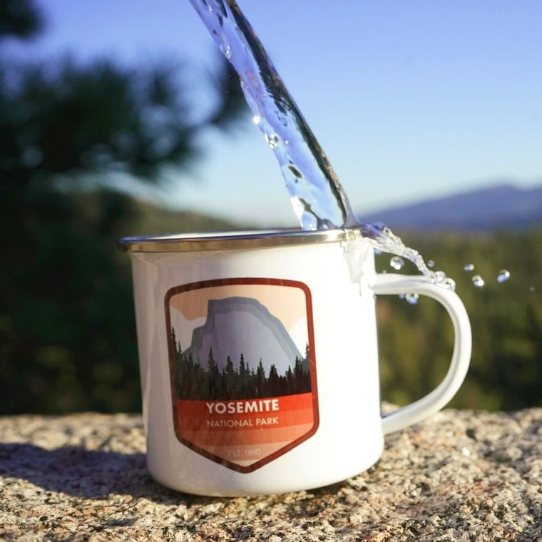 Yosemite National Park, California Enamel Camping Mug - 12 oz