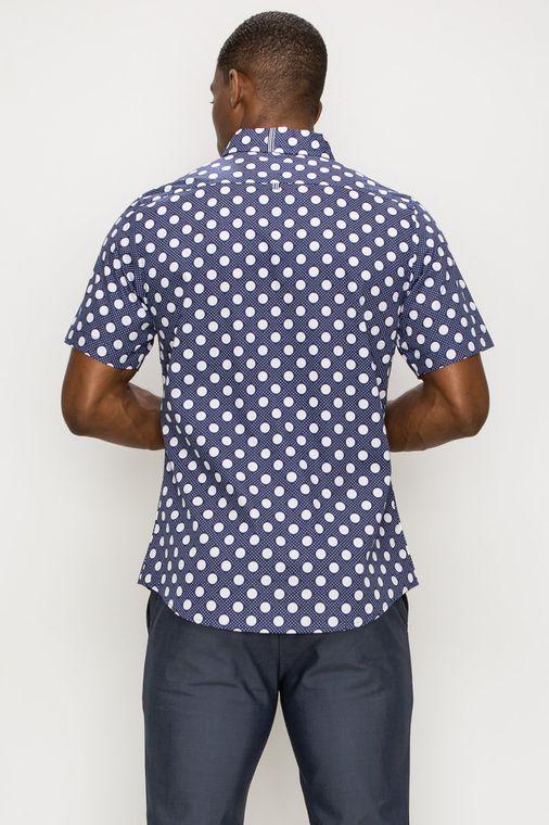 Circle Print Short Sleeve Shirts