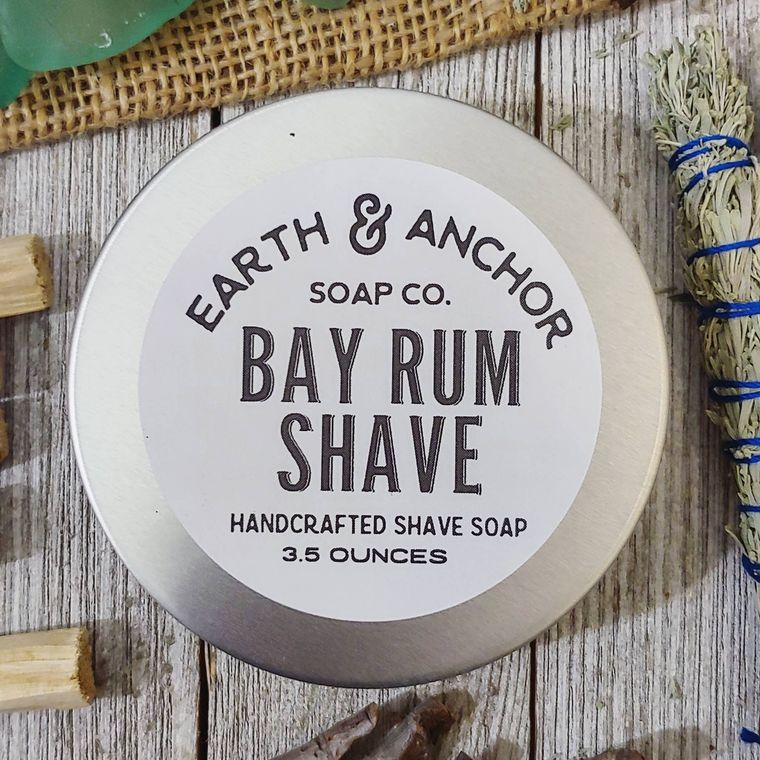 Bay Rum Shave Soap Tin