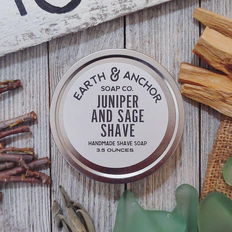 Juniper & Sage Shave Soap Tin