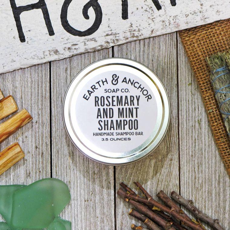 Rosemary and Mint Shampoo Bar Tin