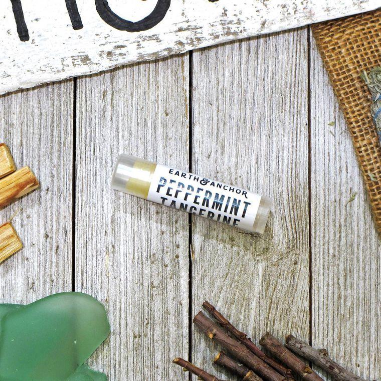 Peppermint Tangerine Vegan Lip Balm