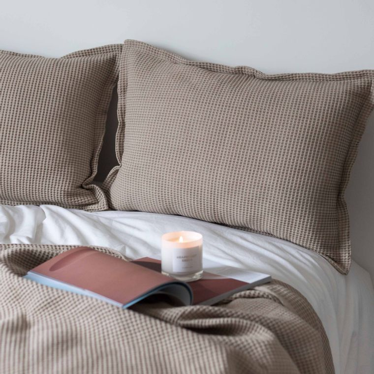 Waffle Pillow - Beige -
