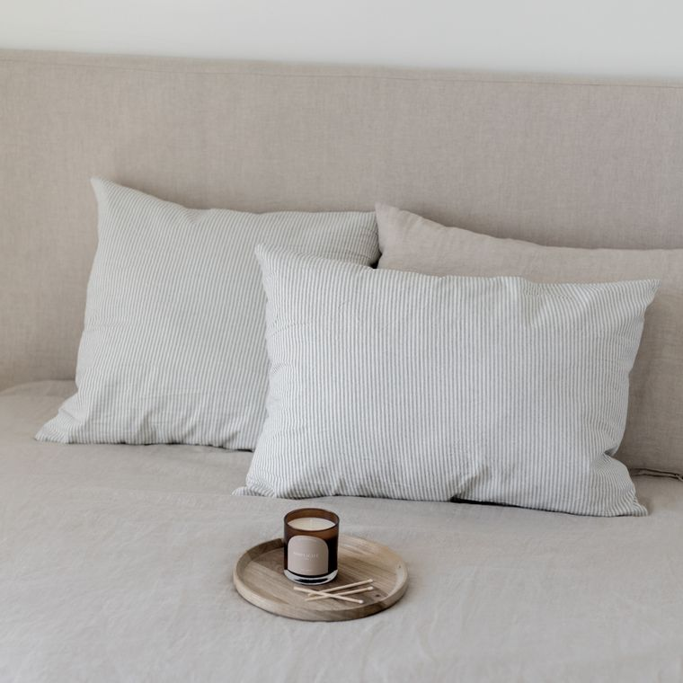 Gray Strippes Pillow